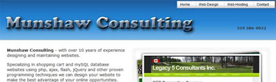 Munshaw Consulting - Web Design